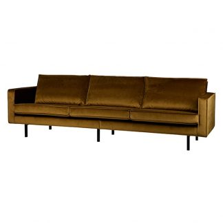 Rodeo Soffa 3-sits velvet honey yellow