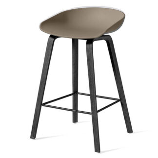 AAS 32 Low Bar Stool Barstol black stained oak veneer