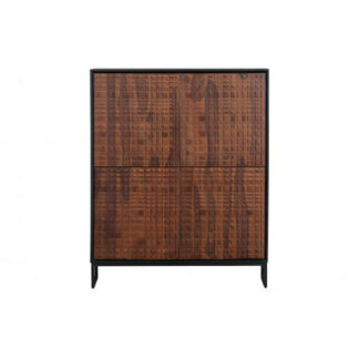 Nuts 4 door cabinet sheesam wood walnut/black