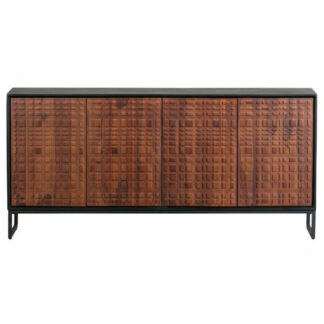 Nuts sideboard sheesam wood walnut/black