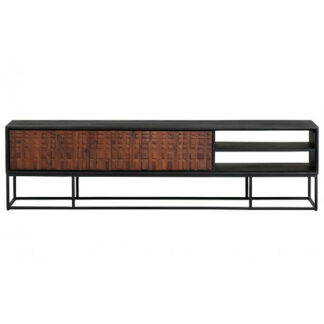 Nuts tv stand sheesam wood walnut/black