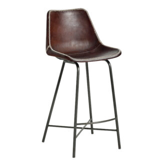 VEGA leather bar chair, iron